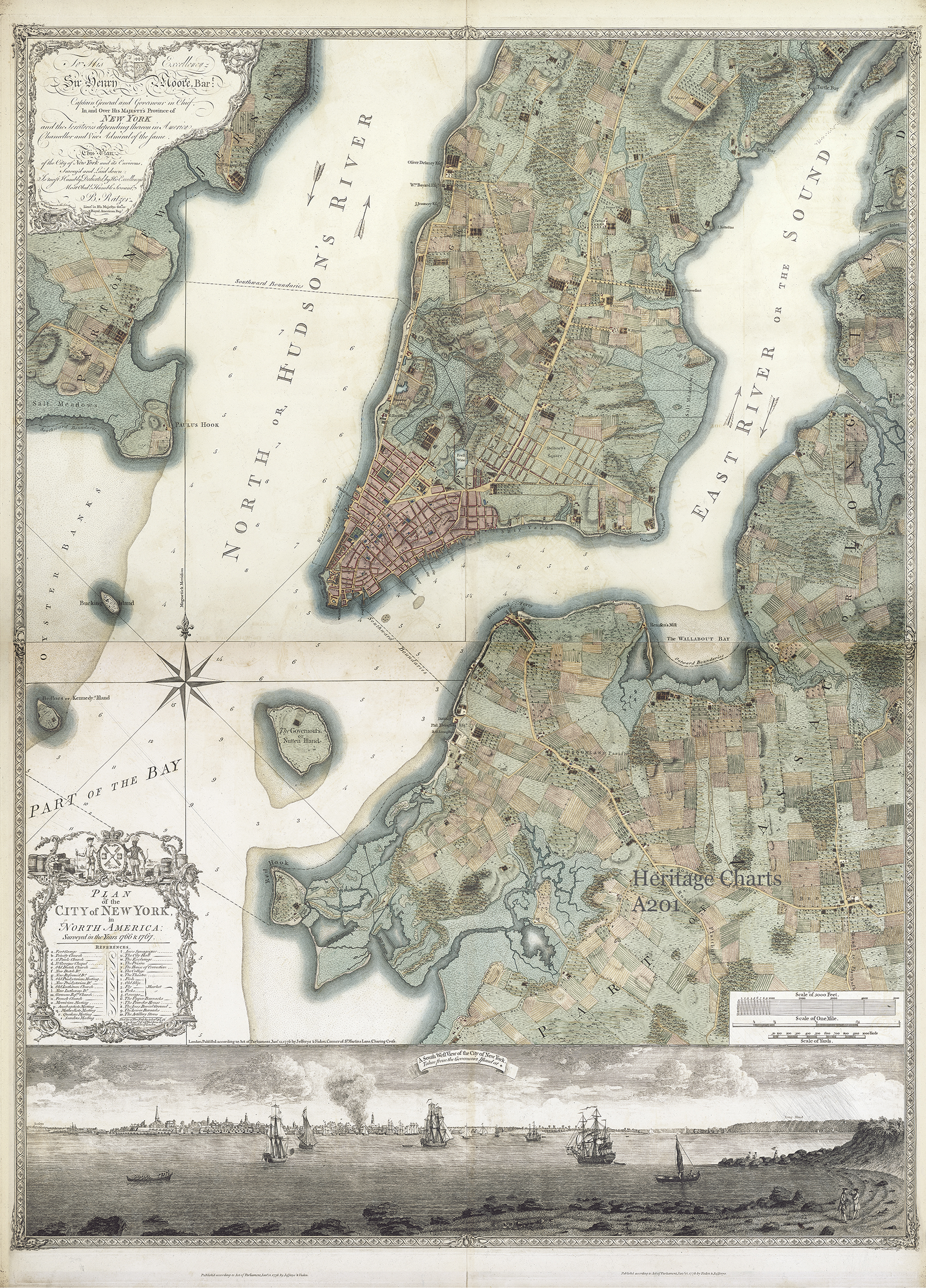 The Ratzer Map Of New York Heritage Charts Logbook - Nyc rat map